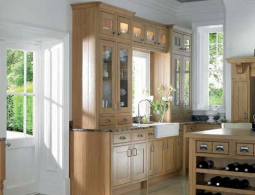 shaker style- Natural Oak with Lancaster Oak